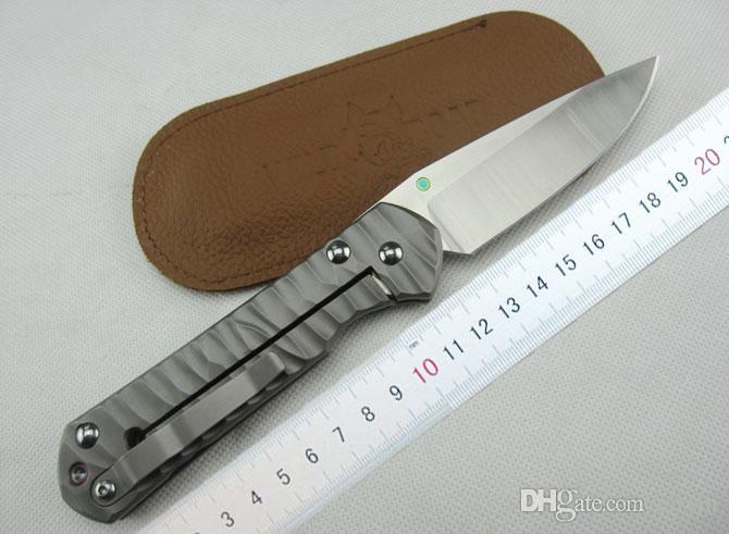 Offerta speciale Chris Reeve Large Sebenza 21 Manico in titanio Lama in acciaio D2 Coltello pieghevole Coltello da tasca EDC Coltelli di sopravvivenza con confezione regalo