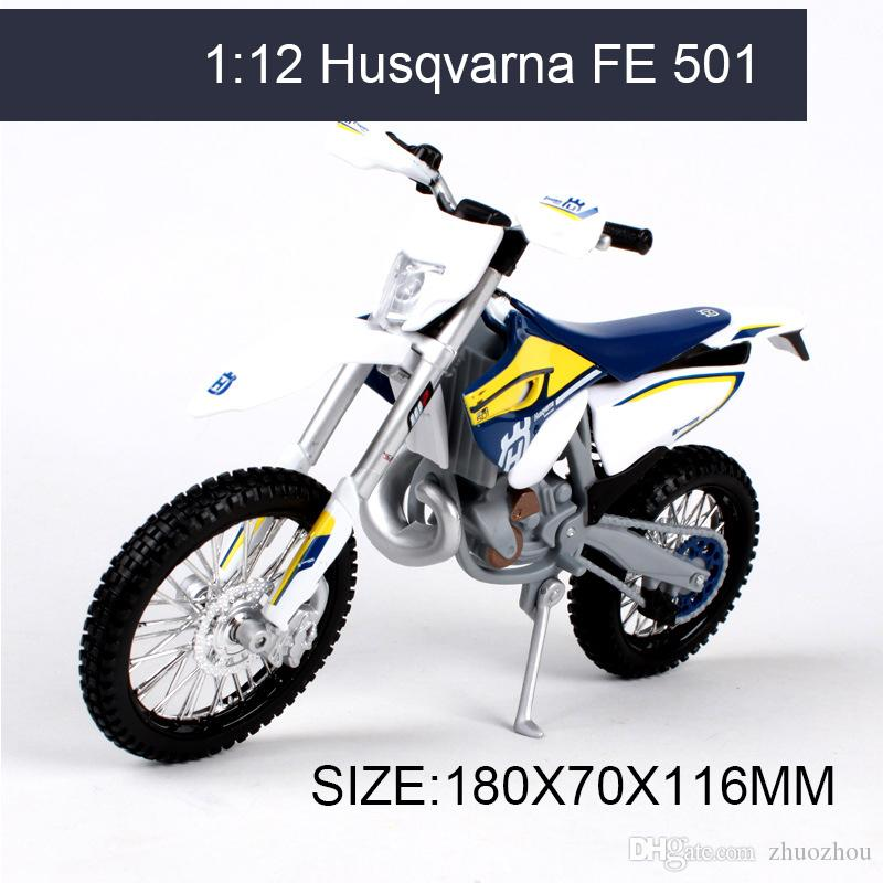 Husqvarna FE 501 off-road 1:12 scale metal diecast models motor bike miniature race Toy For Gift Collection