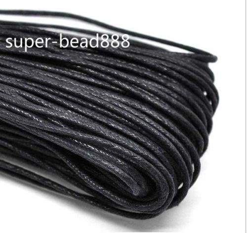400m Craft Jewelry Making Black Waxed Cotton Necklace Cord 2mm Envío Gratis