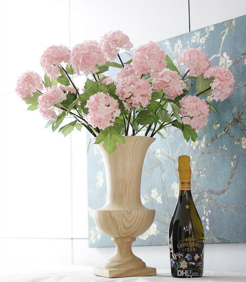 artificial flower 2 flowers snowball High-grade flowers Home decoration home improvement hydrangea pincushion