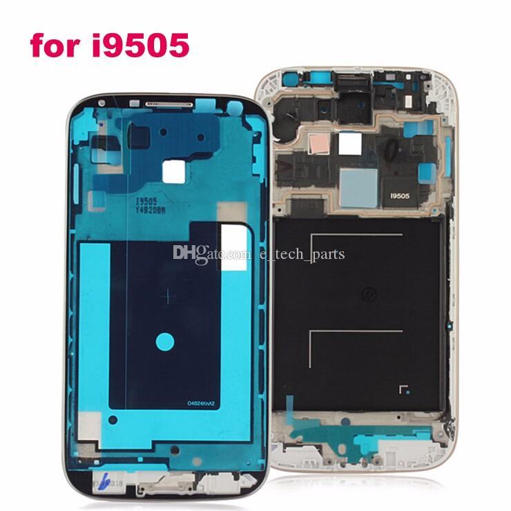 الإطار الأمامي OEM لسامسونج غالاكسي S4 الجيل الثالث 3G 4G مقابل i9500 / i9505 / I9506 I337 جبهة الإسكان استبدال شاشة لوحة استبدال قطع غيار 10 جهاز كمبيوتر شخصى