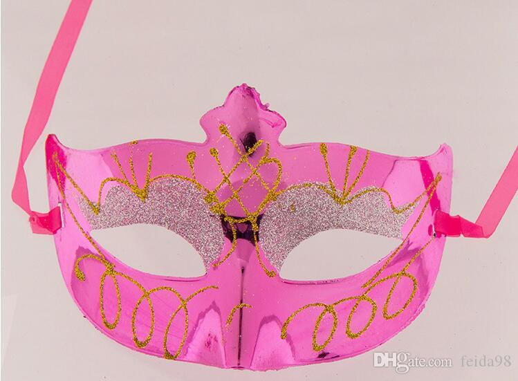 Christmas mask masquerade party mask half face mask - adult children painted beauty mask