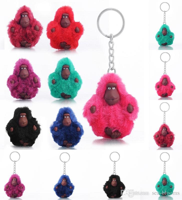 8 Styles Cute 3D Plush Monkey Keychain Animals Plush Toy Keyring Animal  Pendant Keyrob Collection DIY Pendant Dolls Gift Free DHL B774L Key Chains  Key Chain ... 26c4a14b0a2f