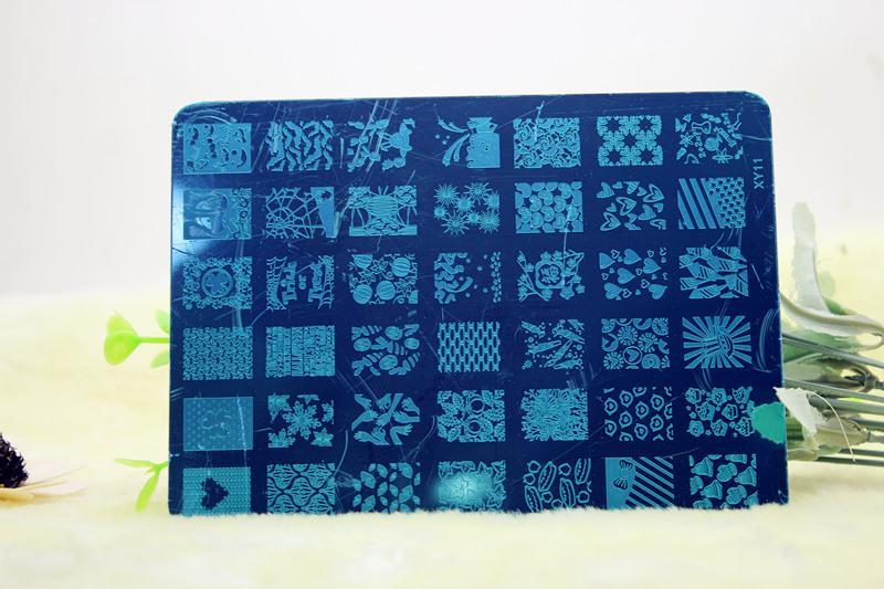 네일 아트 템플릿 15 디자인 14.5 * 10.5cm DIY 매니큐어 도구 네일 아트 스텐실 템플릿 스탬핑 무료 DHL UPS 페덱스