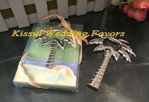 Романтическая свадьба и партия милостей Palm Tree Бутылка открывалка Свадебный подарок для пляжа свадьбы и партии украшения / освобождают перевозку груза