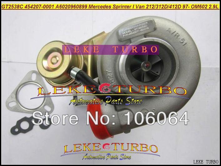 GT2538C 454207-0001 6020960899 For Mercedes-PKW Sprinter I Van 212D 312D 412D 2.9L OM611 141HP 2000-2006 turbocharger - (2)