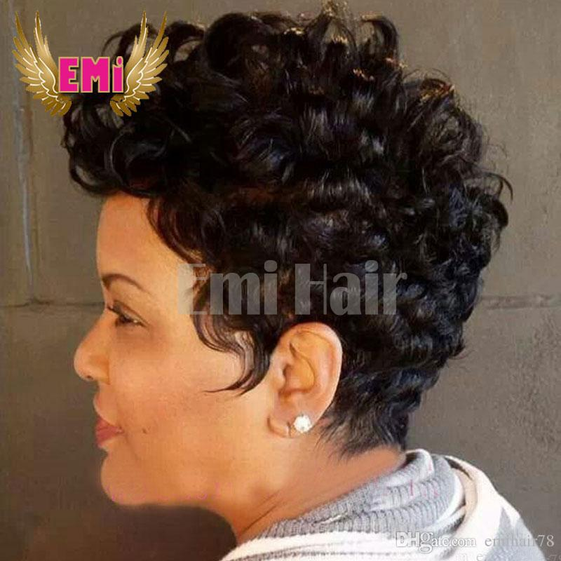 Short Bob Wigs For Black Women Tight Curly Human Hair Wigs With Baby ...