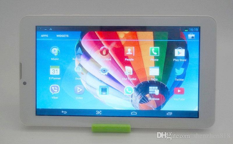 818 ПК таблетки 7 дюймов 3G Фаблет Android 4,4 MTK6572 Dual Core 512MB 8GB GPS телефон Dual SIM WIFI вызова Tablet PC дешевы Китай телефоны B-7PB