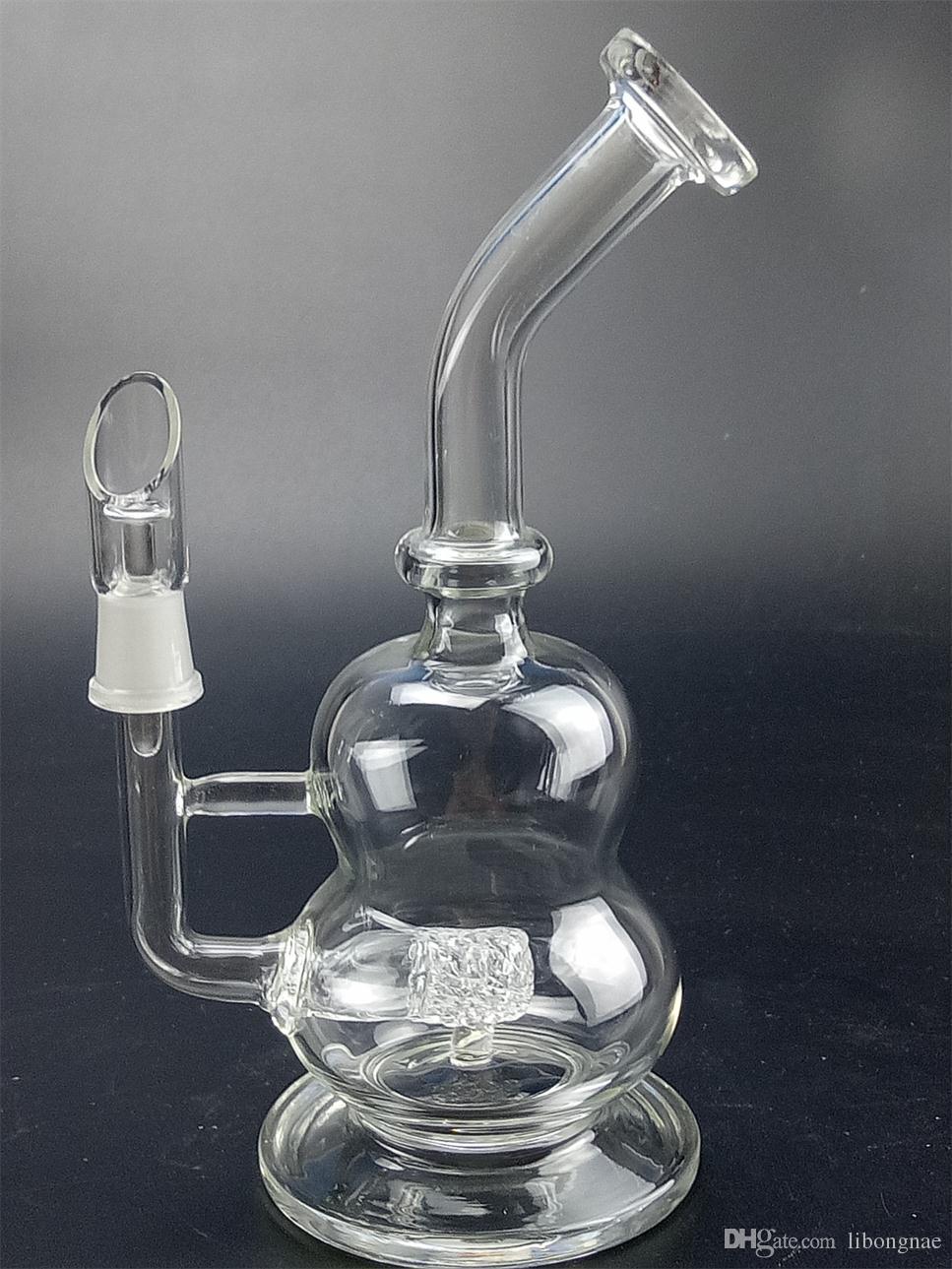 großhandel 23 cm hohe qualität glas kunst glas bong Öl rig tupfte