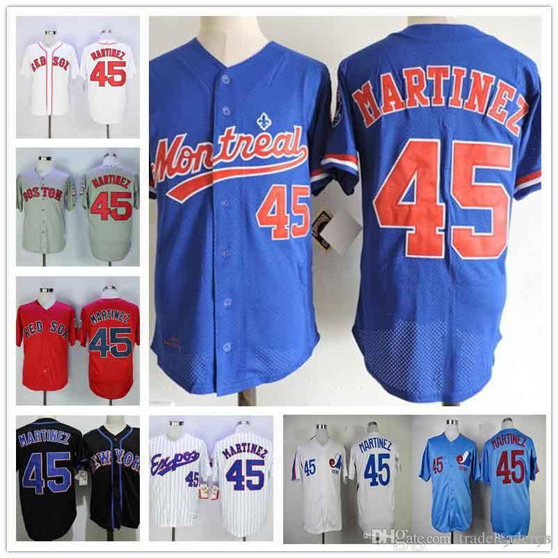 size 40 c5fd2 d327b montreal expos 45 pedro martinez blue throwback jersey