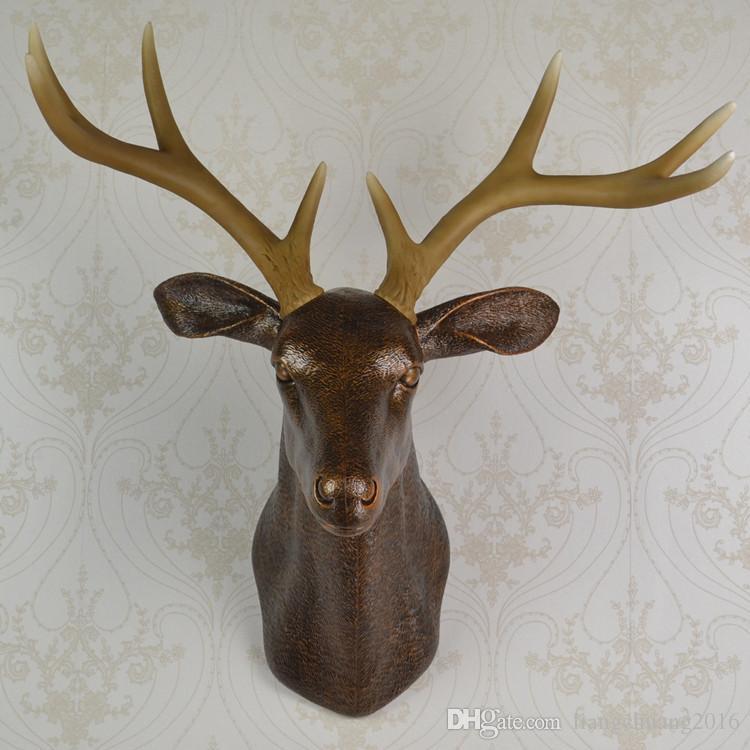 2018 Wall Mounted Brown Buck Bust Whitetail Deer Head