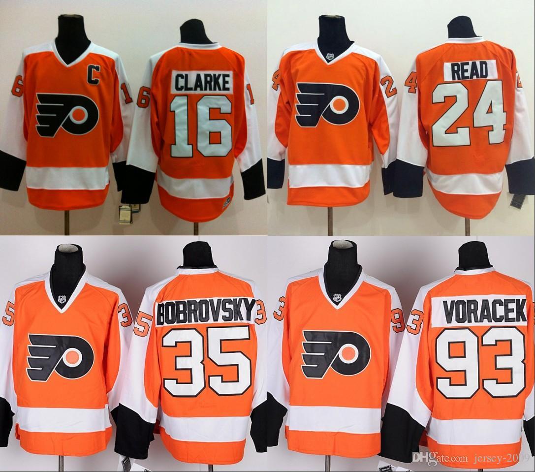 2018 philadelphia flyers 16 bobby clarke 35 sergei bobrovsky 93 jakub voracek jerseys ice hockey winter classic team color alternate stitched from jersey
