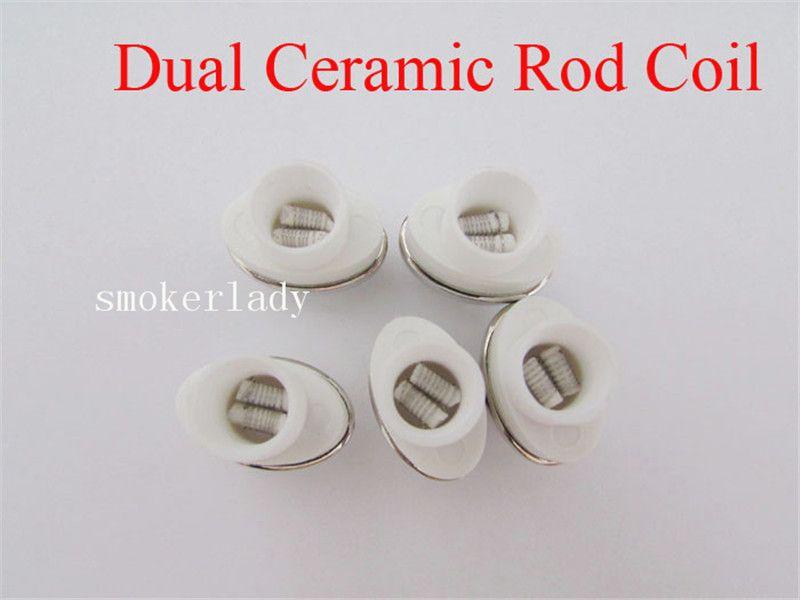 Newest Wax Dual Ceramic Rod Coil Replacement Core Quartz Atomizer For Wax Vaporizer Pen Quartz Rod for Elips Cloud Pen micro g pen