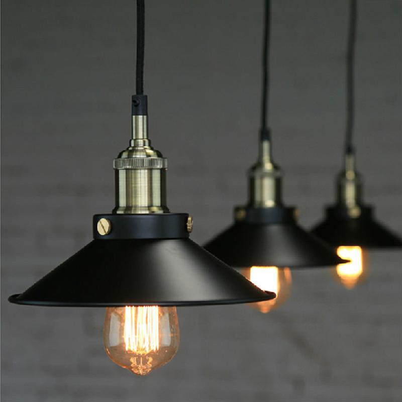 Loft Vintage Iron Black Pendant Lights Industrial Pendant