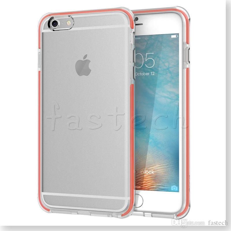 For Iphone 7 6 6s Plus Transparent Clear Hybrid Shockproof Tpu Gel