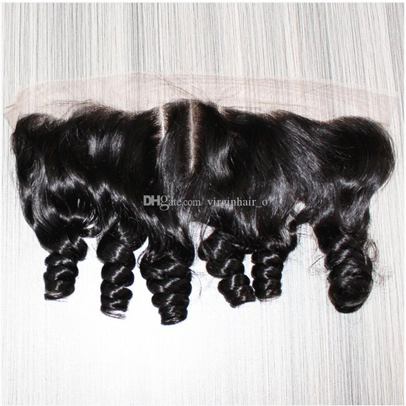 2016 New Arrival 9A Funmi Hair Peruvian Hair 13*4 Lace Frontal Closure Aunty Funmi Hair Bouncy Curls Ear to Ear Full Lace Frontals
