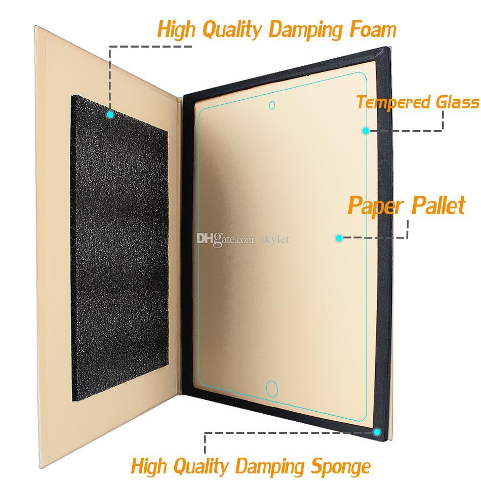 Ipad 2/3/4를위한 iPAD 공기 강화한 유리제 화면 보호자 Ipad 소형 필름 정제 스크린 보호자 9H 0.4MM 노란 포장을 가진 강화한 유리