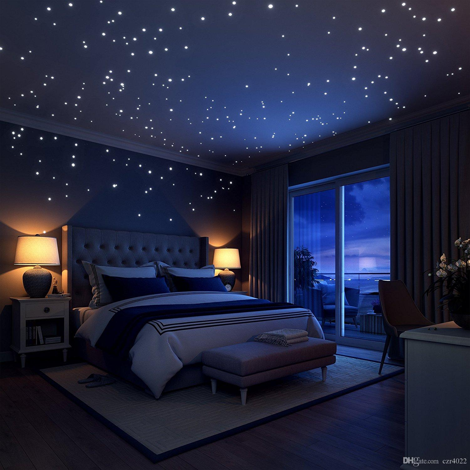 Glow In The Dark Stars Wall Stickers 252 Adhesive Dotoon For Starry Sky Perfect Kids Bedding Room Or Birthday Gift Train Tree