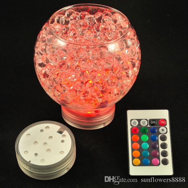 3AAA batteriebetriebenes IR ferngesteuertes 10 Multicolors SMD LED Vasenlicht, versenkbares geführtes Licht, wasserdichtes Floralyte-Licht
