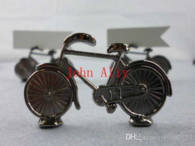 Favors libres de la decoración del partido de la tarjeta del lugar de la bicicleta del marco de la foto de la boda del sostenedor de la foto de la tarjeta del lugar de la bicicleta