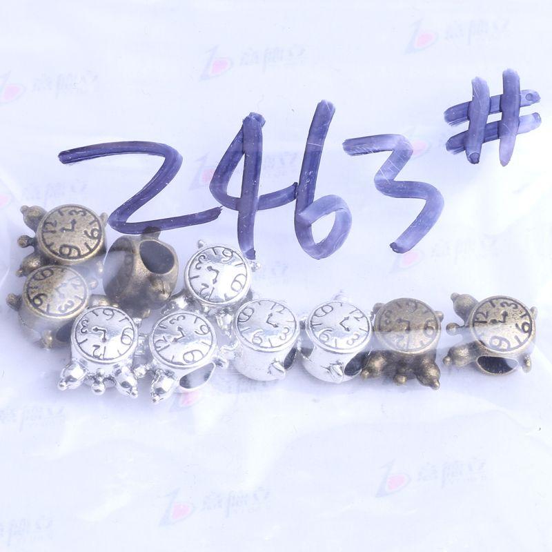 YDLSP horloge design Pandora lâche perle charme argent / bronze en alliage de zinc pour pendentif bricolage fabrication de bijoux accessoires 2463