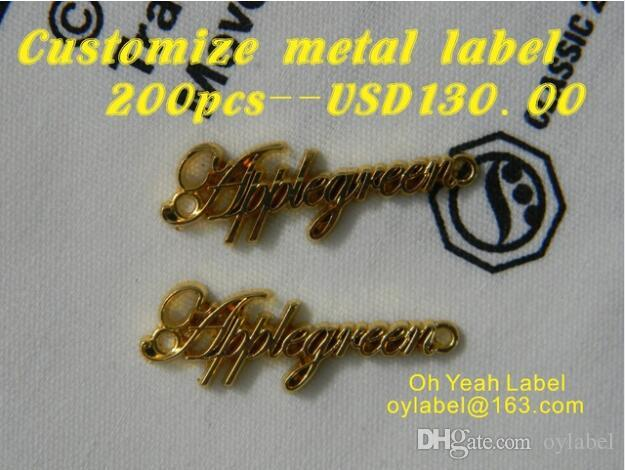 9de5ca7925c3 2019 Custom Made Metal Labels   Metal Tag For Jeans Handbag Decorative Hand  Sewing Tags From Oylabel