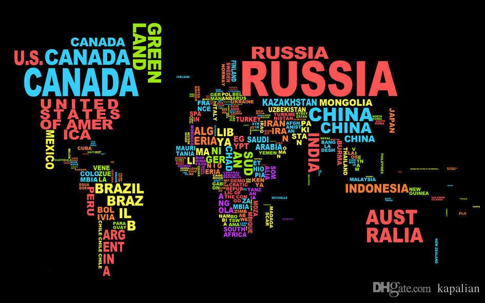 Map of the world poster typography deviantart world map art map of the world poster typography deviantart world map art posters prints wall paper home decor 16 24 36 47 inches wall stickers baby wall stickers bedroom gumiabroncs Images