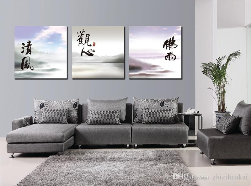 Wall decoration 3 Pieces no frame picture free shipping Canvas Prints Chinese style oil painting horse Bamboo poetry Porcelain vase flower
