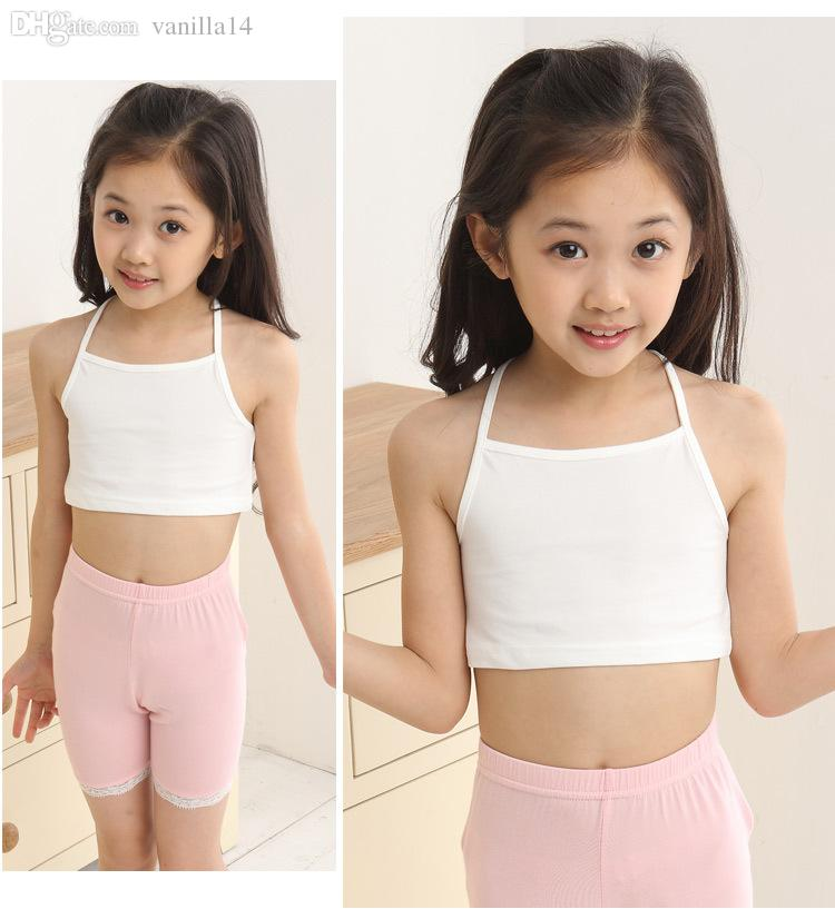 Small Teens Wholesale Girls Small Vests Developing Girl's Bra Cotton Lycra .