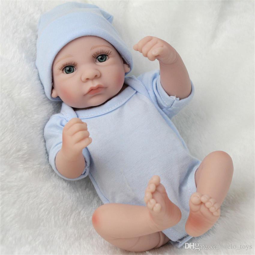 Großhandel Handgemachte Reborn Neugeborenen Puppen 28 Cm Echt ...