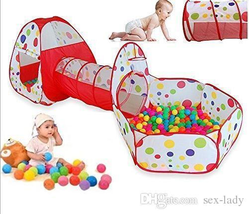 Compre Polka Dot 3 En 1 Plegable Tienda De Juegos Para Niños Con Túnel Bola Y  Cremallera Al Aire Libre Casa De Juegos Toy Hut Ocean Ball Pool A  21.61  Del ... fd93e31872f12