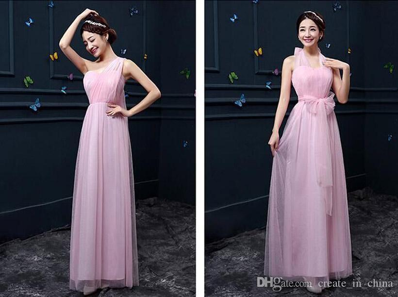 2016 yeni desen Tam elbise Tam elbiseler Gelinlik modelleri Uzun Nedime elbise Kardeş grup elbiseler Mezuniyet elbisesi Sekiz renkler Ücretsiz