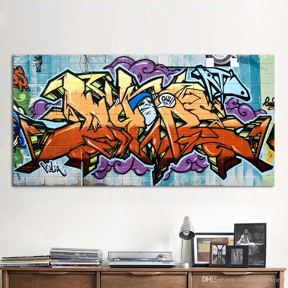 Satın Al 1 Adet Wildstyle Graffiti Boyama Sokak Tuval Sanat Duvar