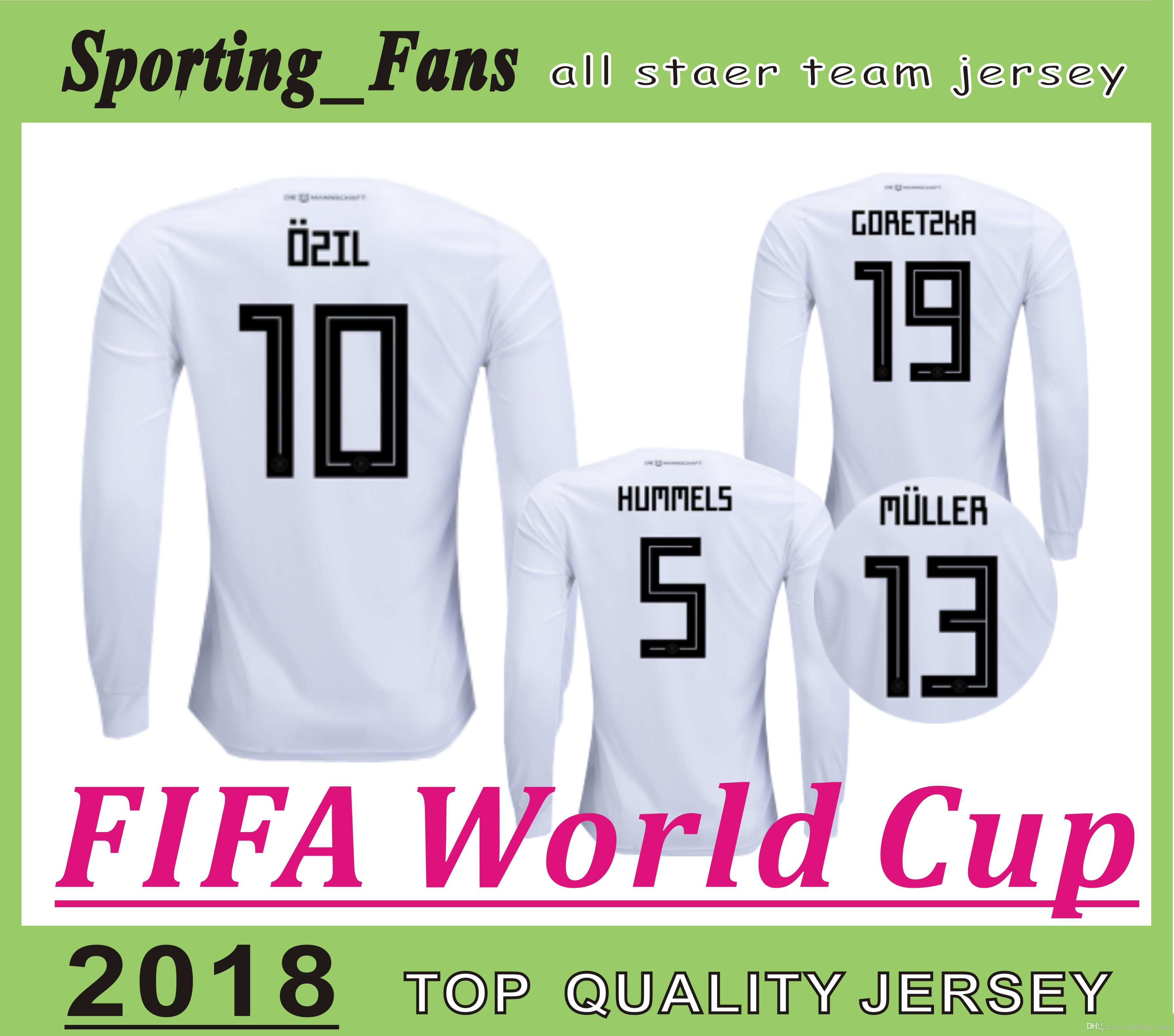 0798909ae9f 2019 2018 World Cup Jerseys Long Sleeve 2014 World Cup Champions With Patch  Mesut Ozil Mats Hummels MULLER Julian Draxler From Sporting fans