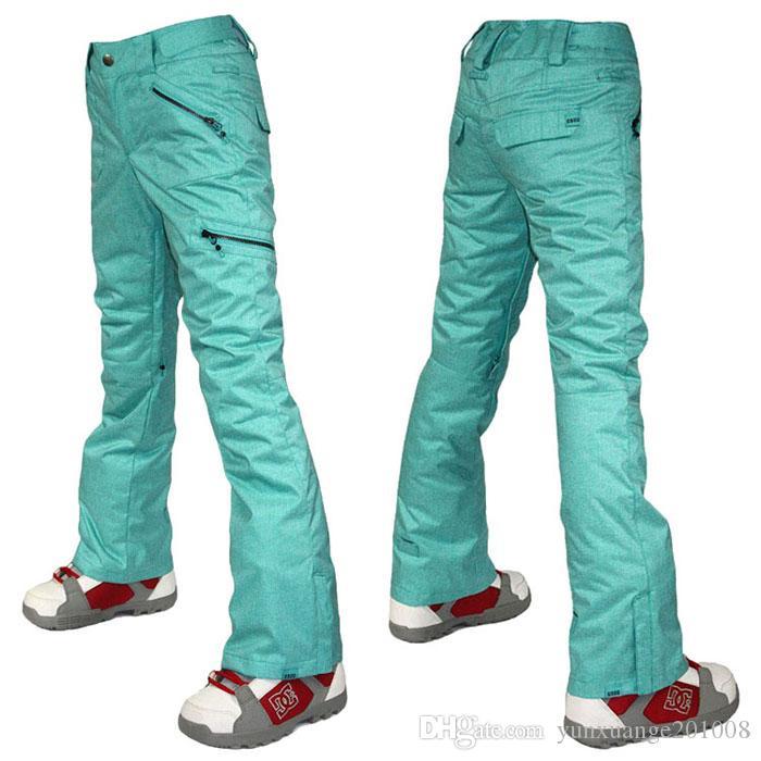 Женские серые лыжные брюки со скидкой женский серый сноуборд треккинговые брюки зимние на открытом воздухе спортивные брюки ветрозащитный водонепроницаемый термический высочайший