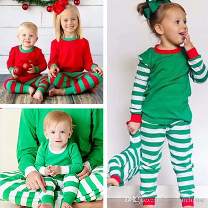 2018 Baby Christmas Clothes Autumn Winter Toddler Kids Pajamas Long ...