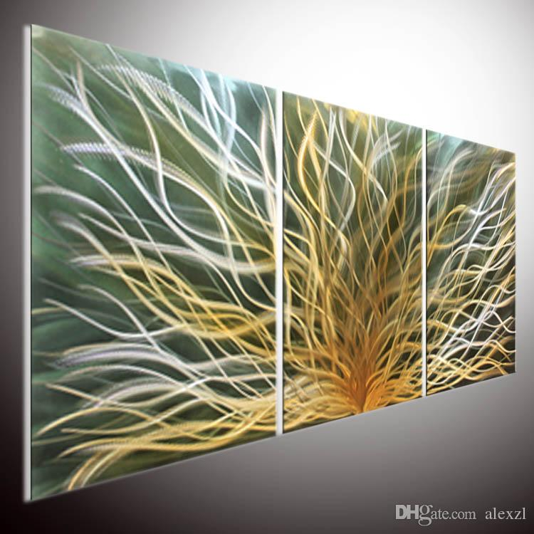 2018 Metal Wall Modern Contemporary Oil Painting Wall Art.Metal ...