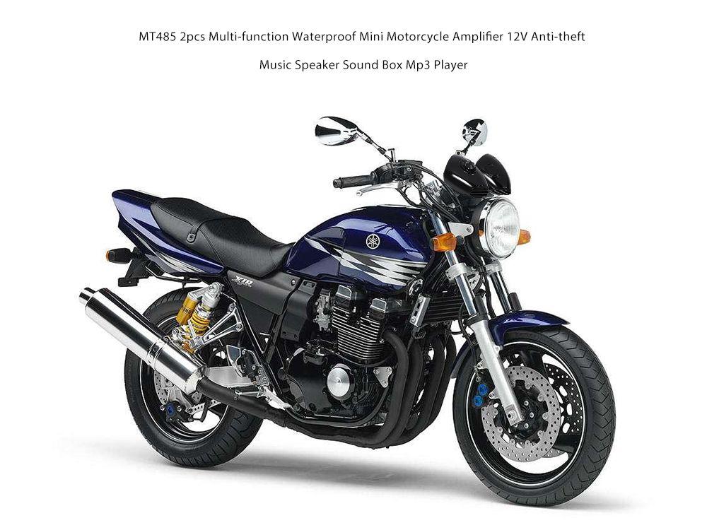 MT485 2 stücke multifunktions Wasserdichte Mini Motorrad Verstärker 12 V Diebstahl Musik Lautsprecher Sound Box Mp3 Player auto