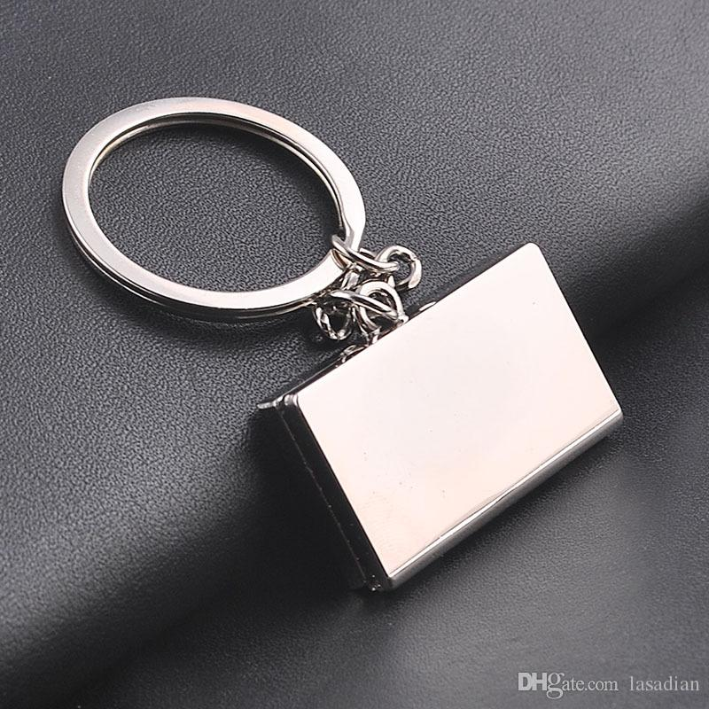 The latest high-quality alloy men keychain bag pendant It can be folded small model Car key chain ring Jewelry Llavero gxy-010