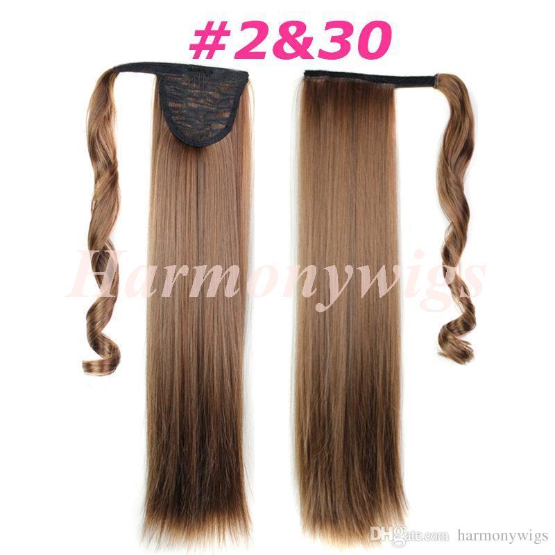 ذيل الحصان الاصطناعية كليب في ملحقات الشعر ذيل المهر 24 بوصة 120 جرام قطعة الشعر الاصطناعية مستقيم أكثر 13 ألوان اختياري
