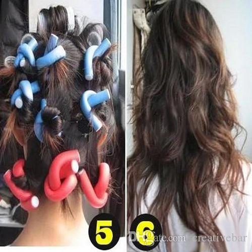 2016 Hot Fantastic DIY Curler Makers Soft Foam Bendy Twist Curls Tool Hair Rollers