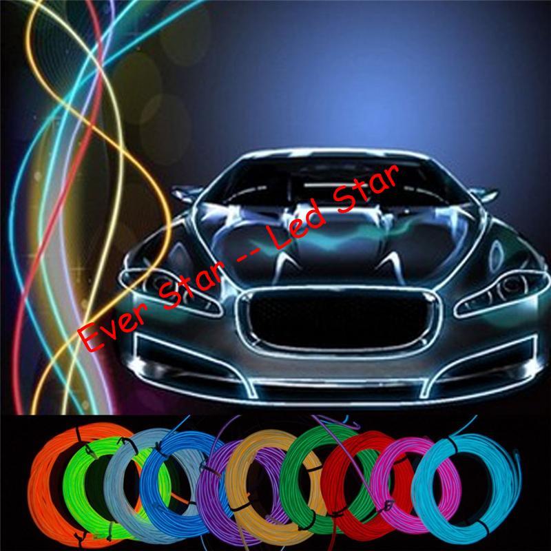 Piscando EL Fio de Iluminação de Néon Lâmpada 1 M 2 M 3 M Poder Da Bateria Flexível Levou Luz Da Fita adereços de palco de luz Fria tira de luz 10 cores