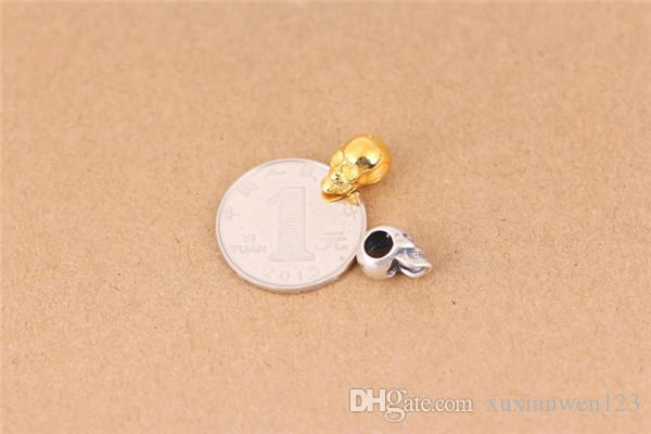 100% 925 серебряный череп бусины Марка TS бусины мода череп подвески, пригодный для Pandora ожерелья браслеты аксессуары DIY бусины