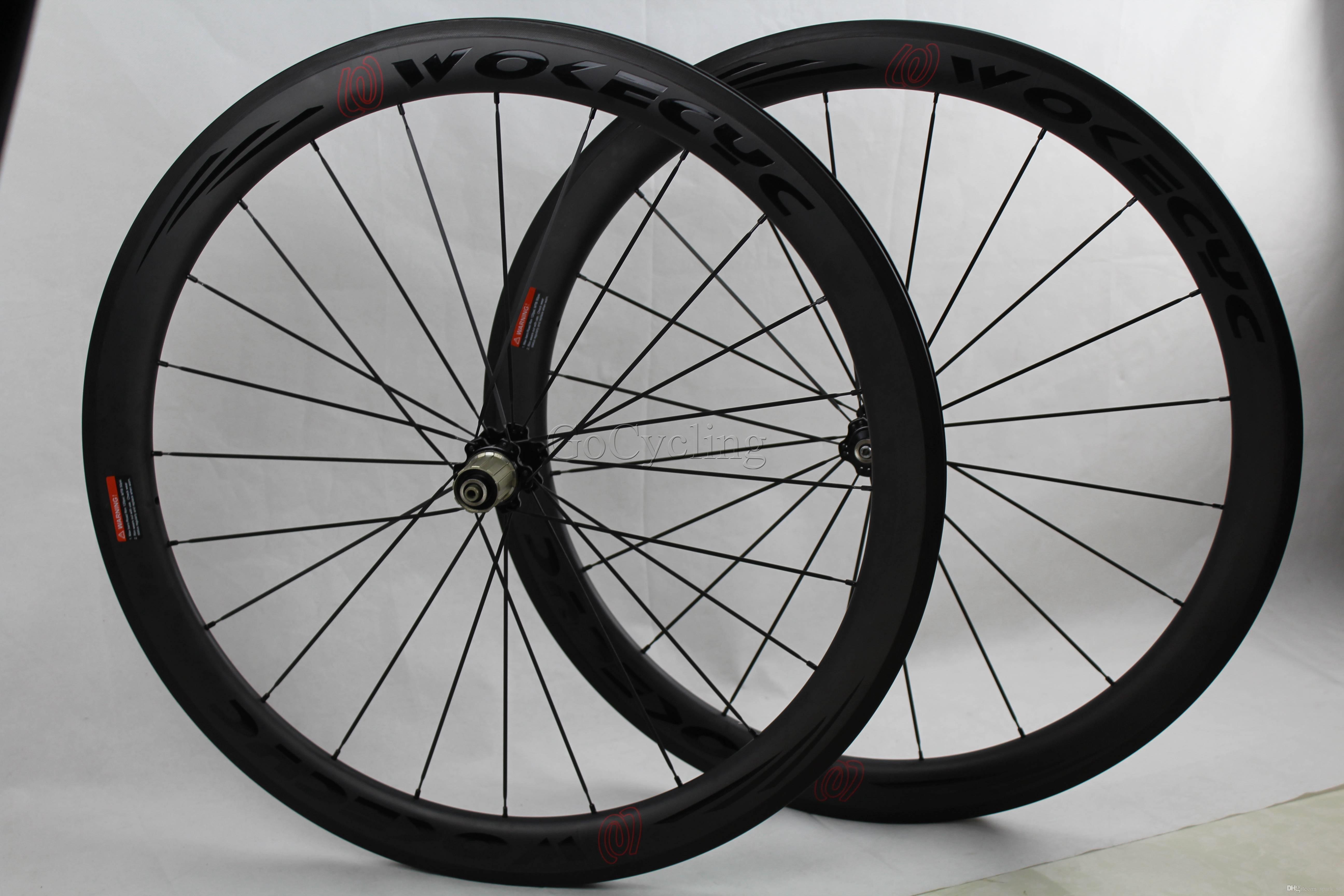 탄소 섬유 자전거 바퀴 50mm 탄소 허브 R36 현무암 브레이크 서프 깊이 50mm 클린 처 튜브 모양의 도로 사이클링 자전거 경주 바퀴 세트 700C