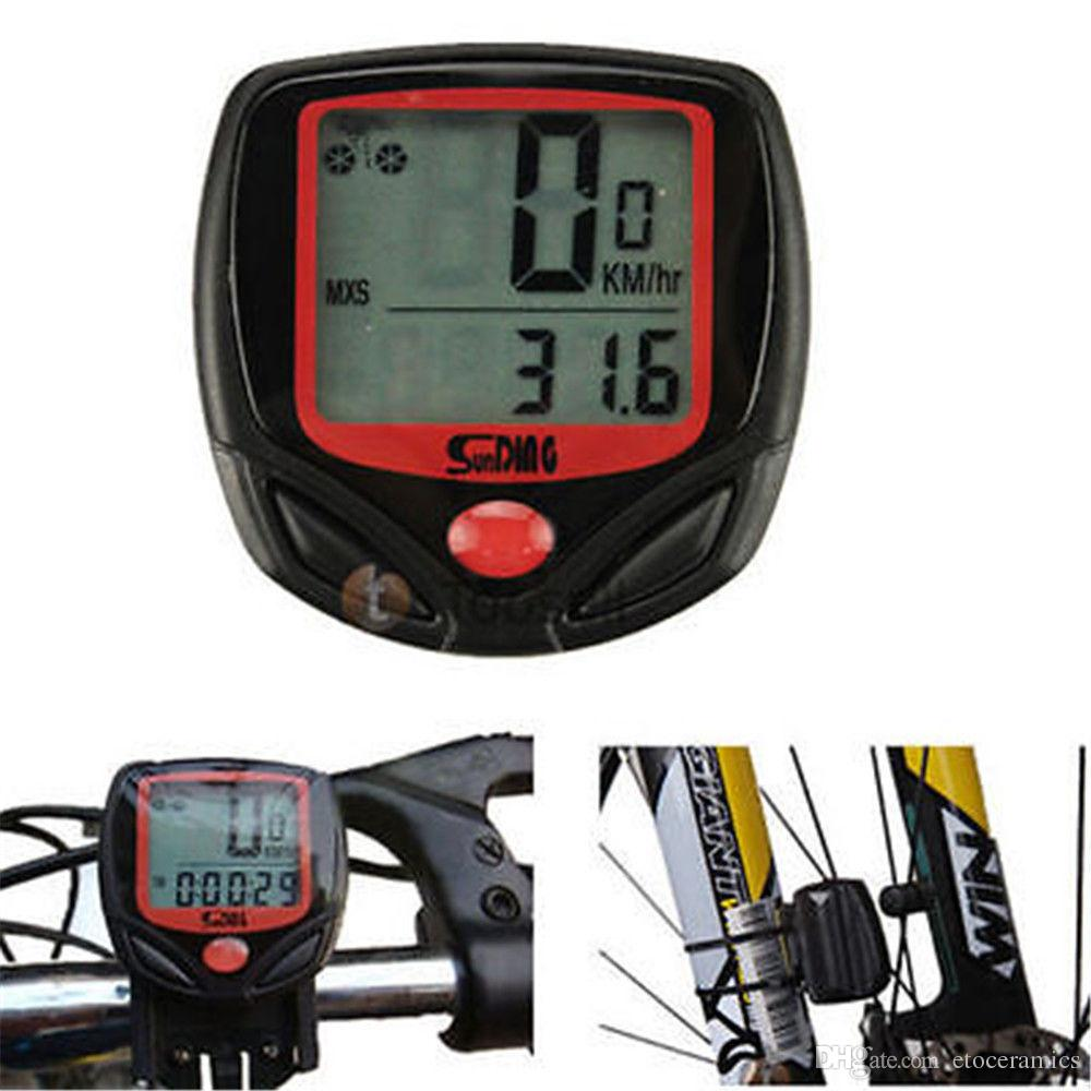 SD-548B 2016 Facotry Direkt fritid 14-funktioner Vattentät Ny cykelcykelcykel Dator Odomometerhastighetsmätare