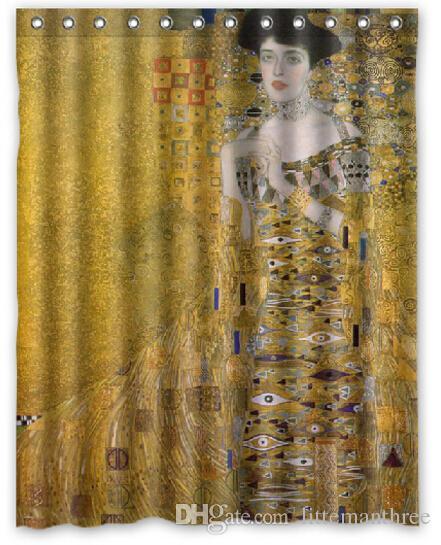 2019 Gustav Klimt Design Shower Curtain Size 140 X 180 Cm Custom Waterproof Polyester Fabric Bath Curtains From Littemanthree 2513