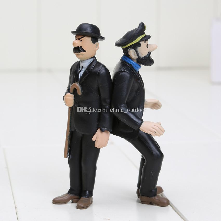 / set 4-8cm Les aventures de Tintin PVC Figurines Collection Modèle Jouets Poupées Bébé Cadeaux