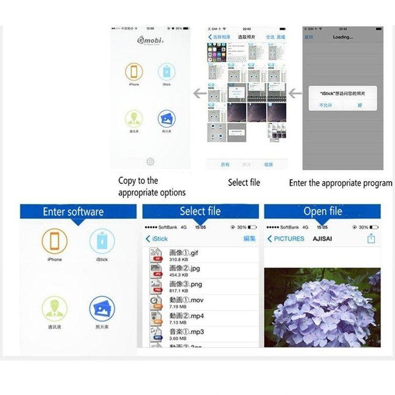 3 en 1 lecteur iFlash USB Micro SD SDHC TF lecteur de carte écrivain pour iPhone5 / 5s / 6 / 6s plus / ipad Tous les téléphones Android