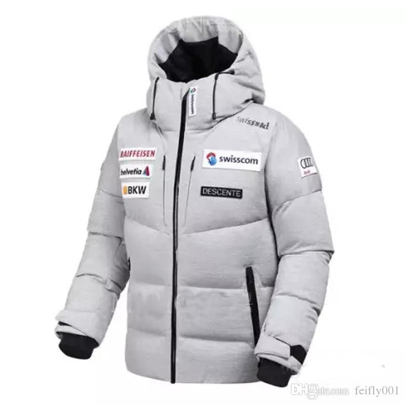 58c0f6ed1 2019 2017 New DESCENTE Down Jacket D6423SDJ77M Windproof Waterproof Coats  Couple Ski Suit Winter Outdoor Outerwear Tide Fashion HFLSYRF001 From  Super egg