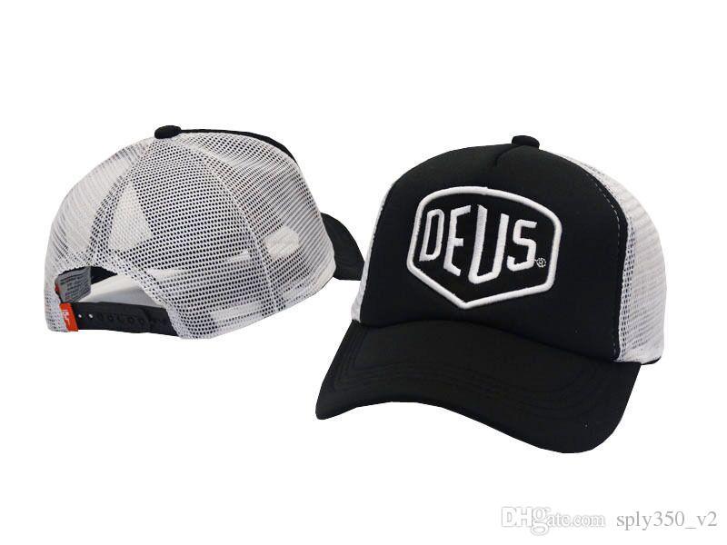 Deus EX Machina Baylands Trucker Snapback Kap Siyah Motosiklet Örgü Beyzbol Şapka Spor Sarayı Drake Panel Hip Hop Erkekler için Tanrı Kap Kapaklar